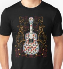 Sugar Skull Guitar T-shirt Slim Fit T-Shirt
