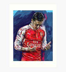 Mesut Ozil - the Ozil touch Art Print