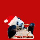 Christmas Giant Panda by Dave  Knowles