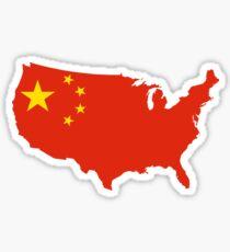 US Chinese Flag Sticker