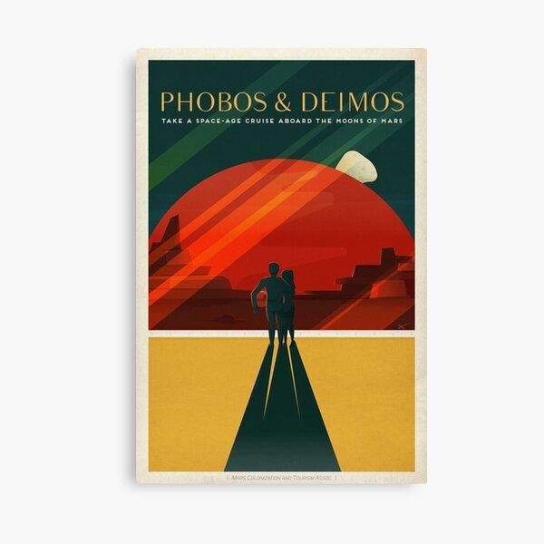 Mars tourism poster for Phobos and Deimos Canvas Print