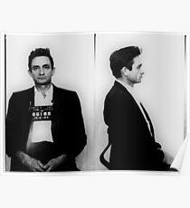 Johnny Cash Mug Shot Horizontal Poster