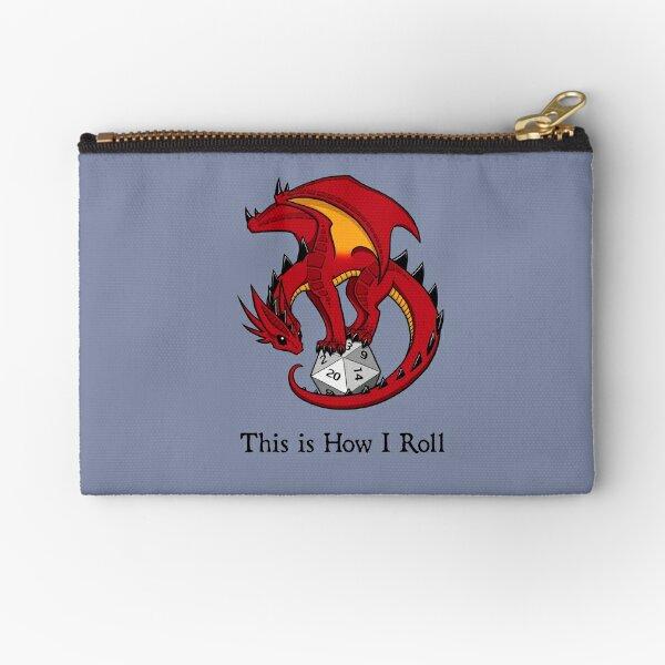 Dice Dragon Zipper Pouch