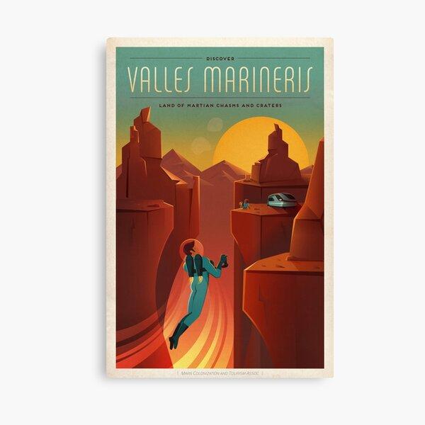 Mars tourism poster for Valles Marineris Canvas Print