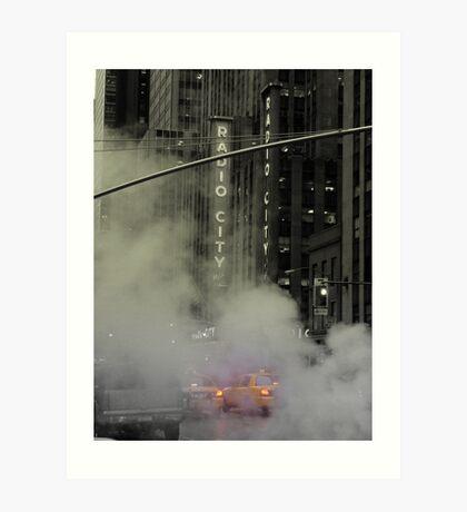 Radio Taxi Art Print