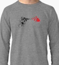 Soldier Shooting Hearts Banksy Style Art Lightweight Sweatshirt