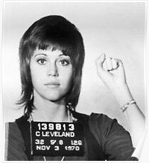 Jane Fonda Mug Shot Vertical Poster