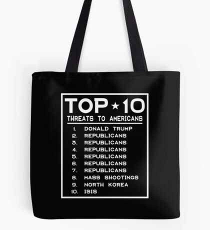 Top Ten Threats to Americans Tote Bag