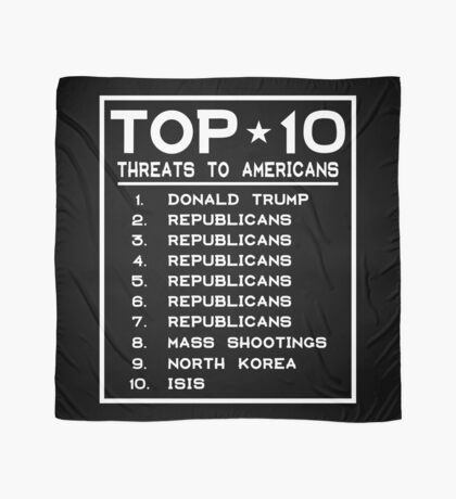 Top Ten Threats to Americans Scarf
