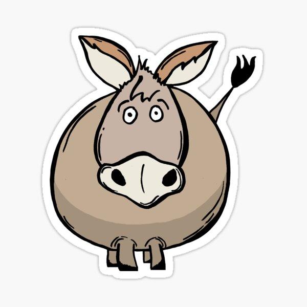 Fat Donkey Sticker