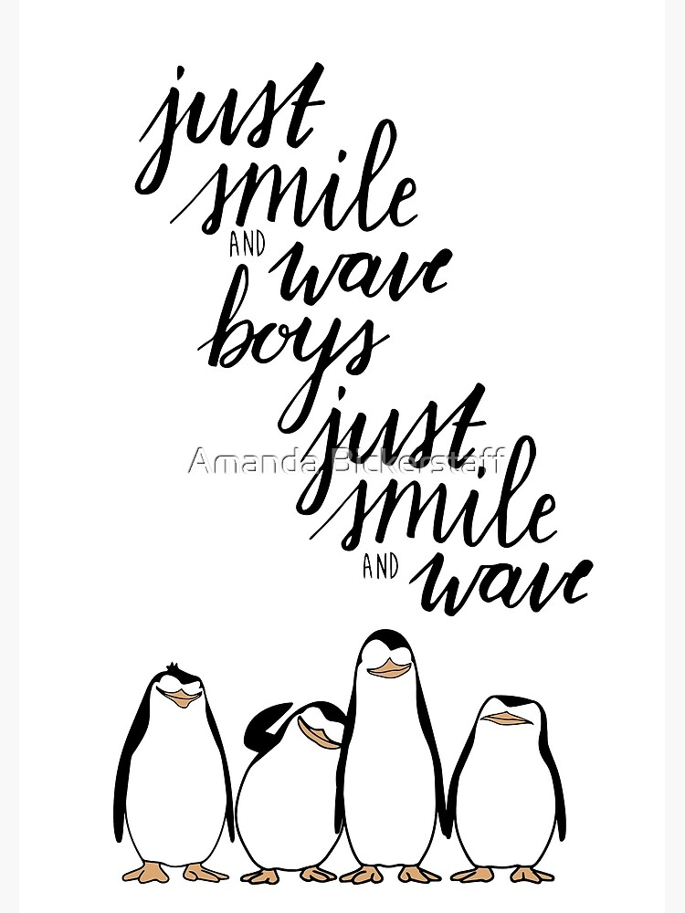 Just Smile And Wave Boys Greeting Card By Amandabickers Redbubble