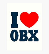 I Love OBX. Art Print