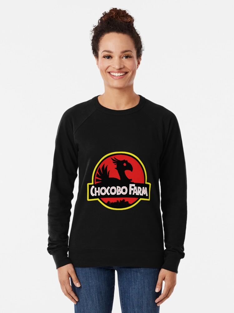 Alternative Ansicht von Chocobo Bauernhof Leichter Pullover