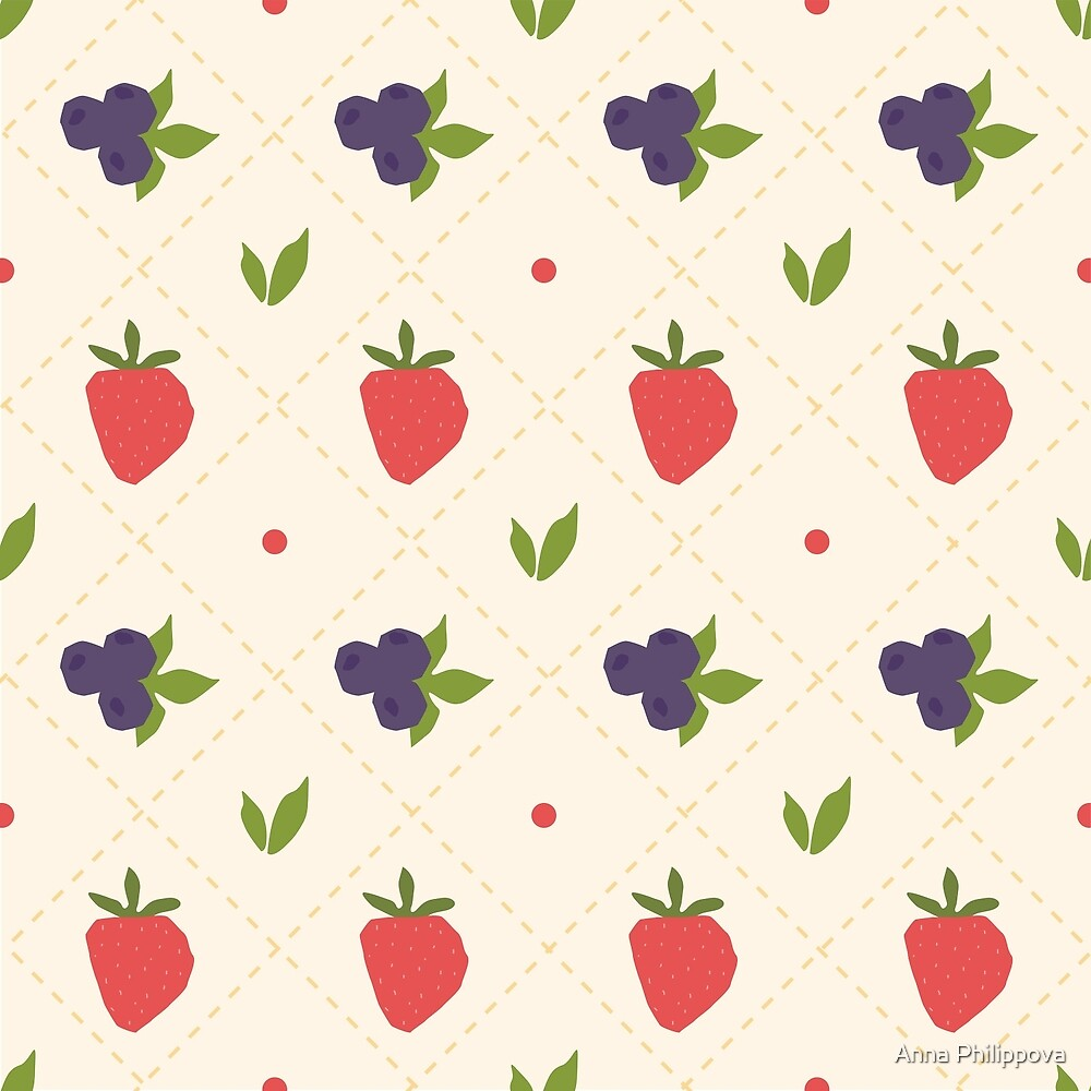 berry pattern by Anna Philippova