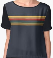 13th Doctor Rainbow Top Women's Chiffon Top