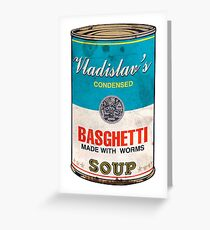 Vladislav's Basghetti, What We Do in the Shadows Greeting Card