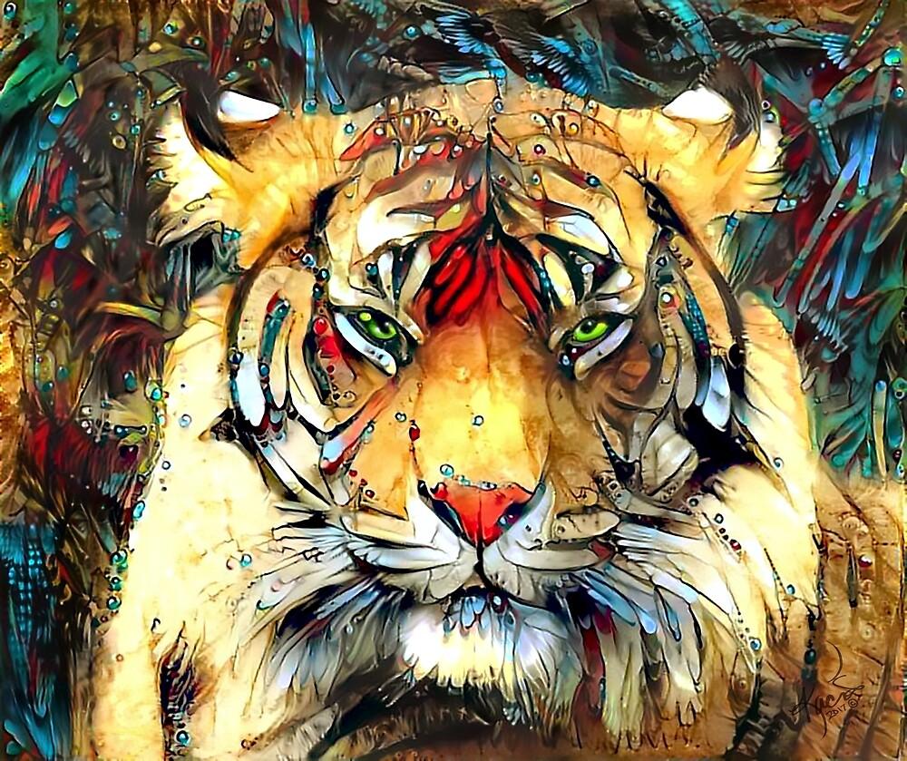 Fantazi (Tiger is Not Amused II) by Kacia by Kacia Kendall