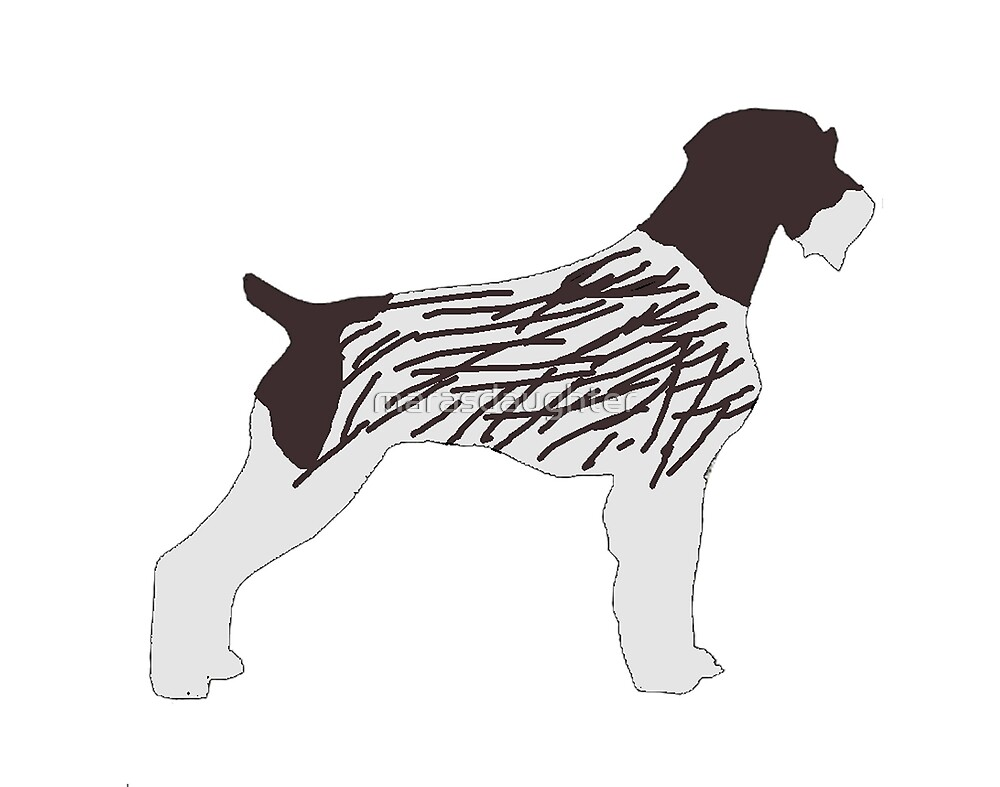 german wirehaired pointer color silhouette\