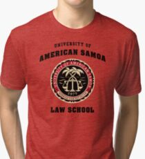 BCS - University of American Samoa Law School Tri-blend T-Shirt