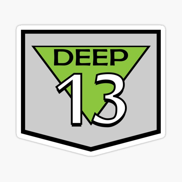 Deep 13 Badge Sticker
