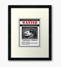 Fairway Frank  Framed Print