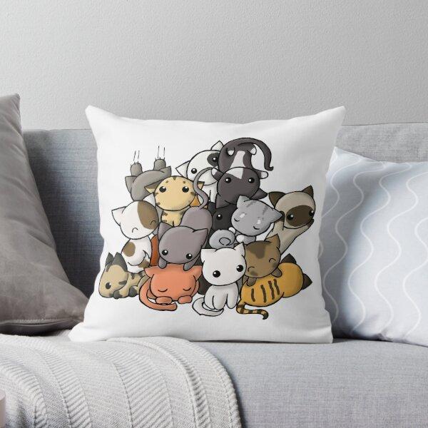 Pile of Kitties Throw Pillow