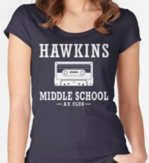 Stranger Things Hawkins Middle School A.V. Club Women's Fitted Scoop T-Shirt