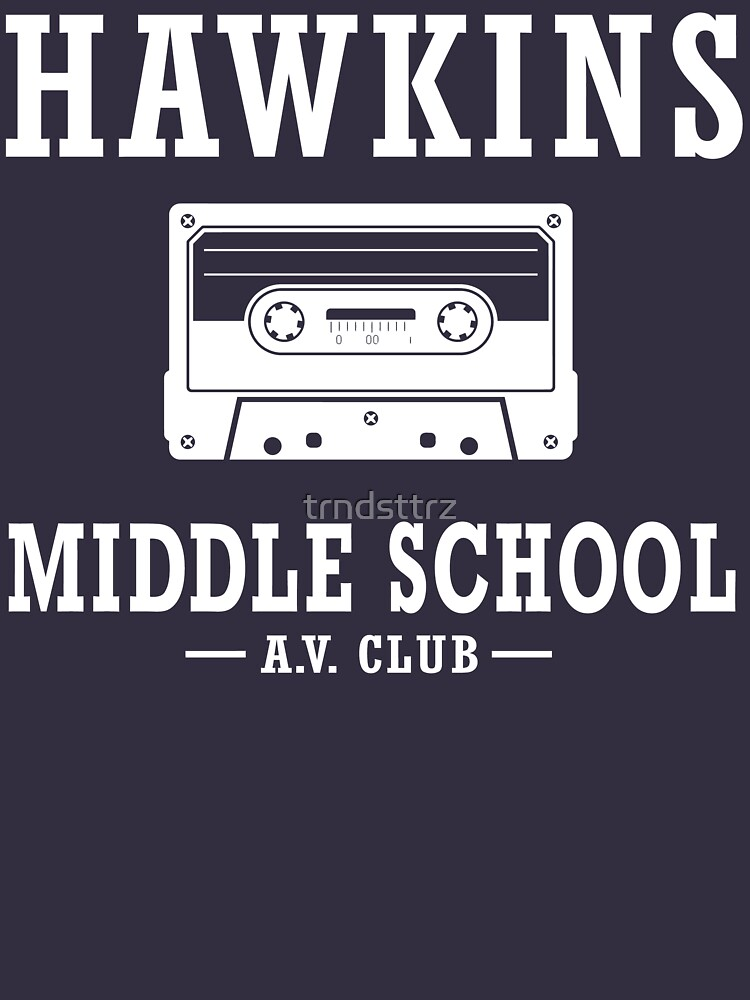 Stranger Things Hawkins Middle School A.V. Club by trndsttrz