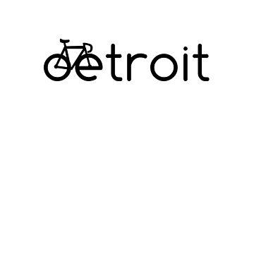 Detroit Michigan Bike Biking Design by tshirtbrewery