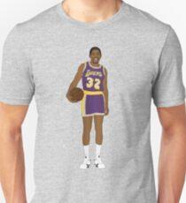 Magic Johnson Prime Showtime Lakers Behind the Back Color Texture Design Unisex T-Shirt
