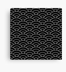 waves, white and black Canvas Print