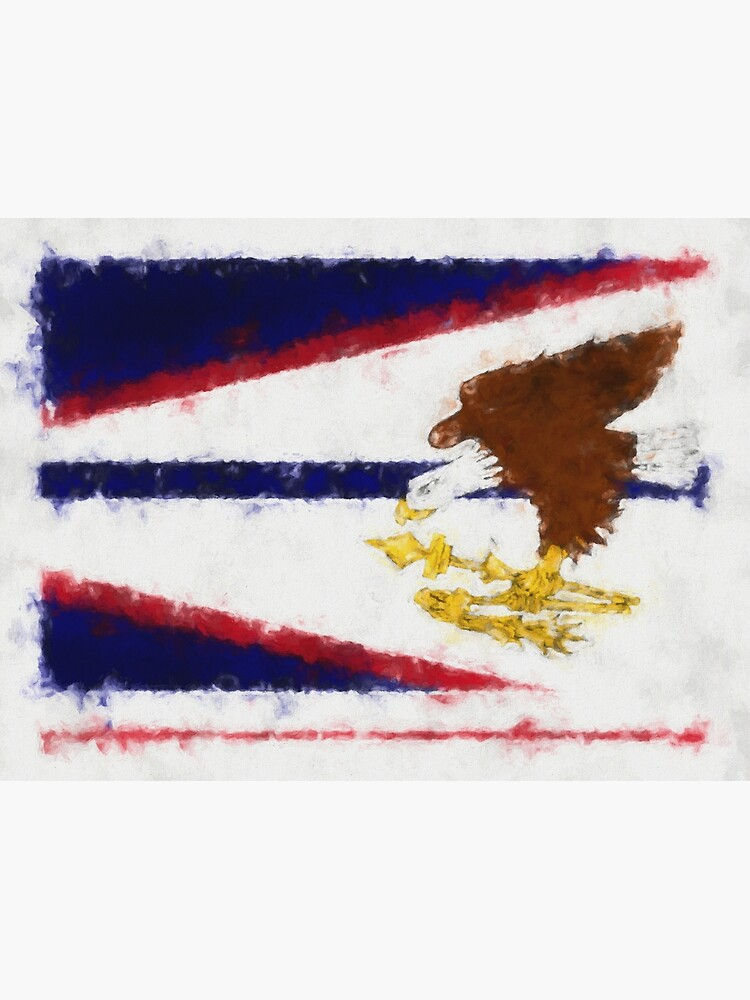 American Samoa Flag Reworked No. 66, Series 5 by 8th-and-f