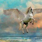 Unicorn in flight by WickedLola
