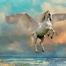 Unicorn in flight by WickedLola