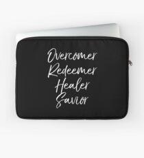 Overcomer Redeemer Healer Savior Laptop Sleeve