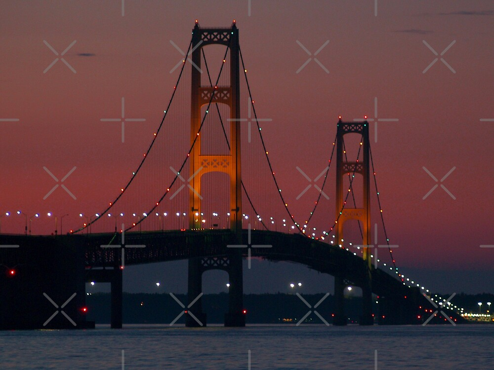 Mackinac Bridge at Dusk by Megan Noble