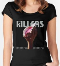the killers wonderful tour 2018 soang Women's Fitted Scoop T-Shirt