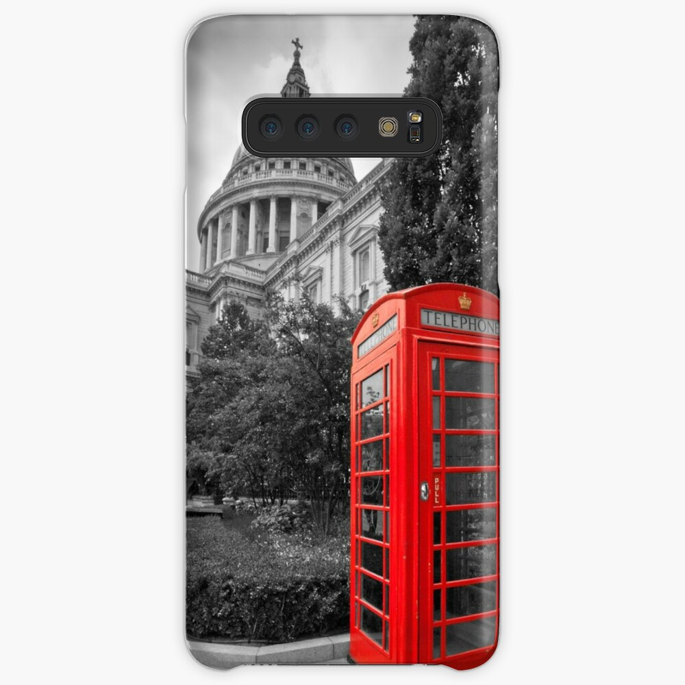 St Pauls Cathedral and the red telephone box Case & Skin for Samsung Galaxy