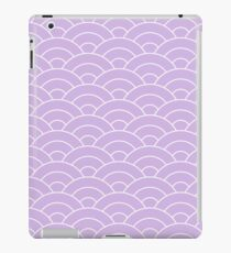 waves, white and pastel violet iPad Case/Skin