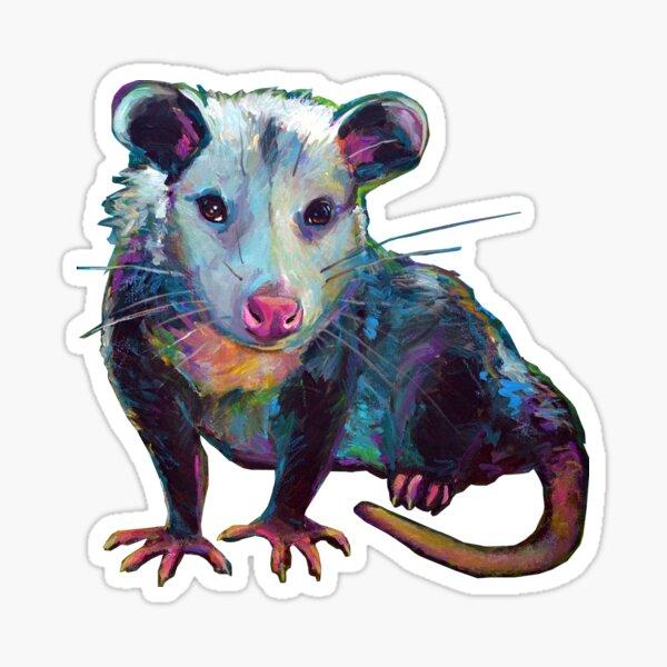 Cute OPOSSUM by Robert Phelps Sticker