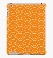 waves, white and saturated orange iPad Case/Skin
