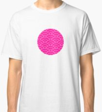 waves, white and saturated pink Classic T-Shirt