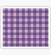 Ultra Violet Tartan Sticker