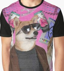 Vaporwave Dog Graphic T-Shirt