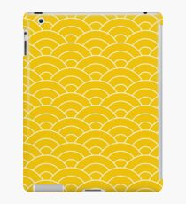 waves, white and saturated yellow iPad Case/Skin
