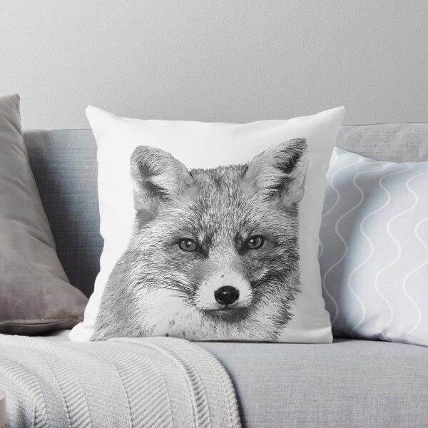 Schwarz-Weiß-Fuchs Dekokissen