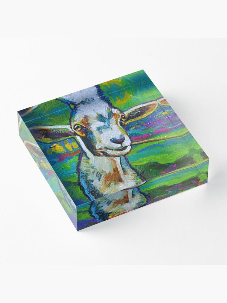Alternate view of Theodore the Goat Acrylic Block
