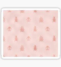 Beetles en rose gold Sticker