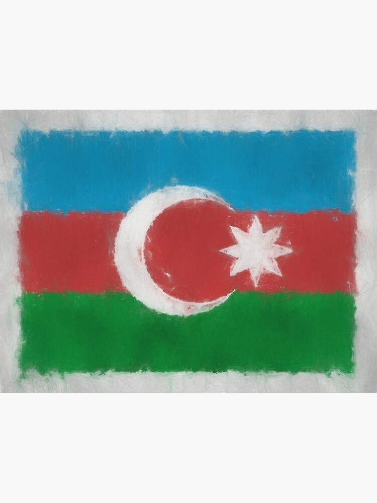 Azerbaijan Flag Reworked No. 66, Series 3 by 8th-and-f