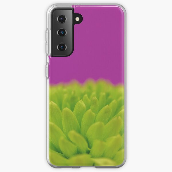 Green Button Spray Chrysanthemum Samsung Galaxy Soft Case